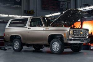 The Blazer-E is an all electric 1977 K5 Blazer